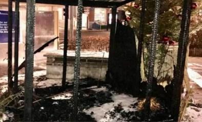 Kerststal brandt af: burgemeester gaat uit van kwaad opzet