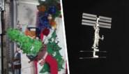Bemanning ruimtestation ISS viert jaarwisseling met een kerstboom