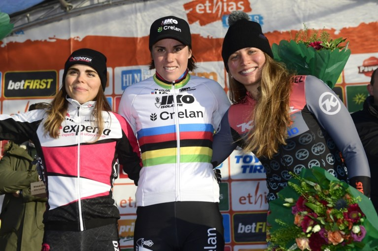 Sanne Cant wint Ethias Cross Bredene na lange solo