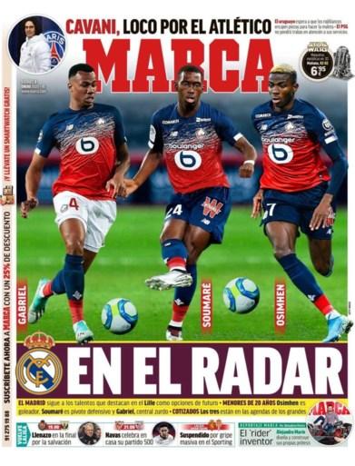 Zes maanden geleden nog bij Charleroi, nu genoemd bij Real Madrid: <I>Marca </I>plaatst Osimhen op de cover