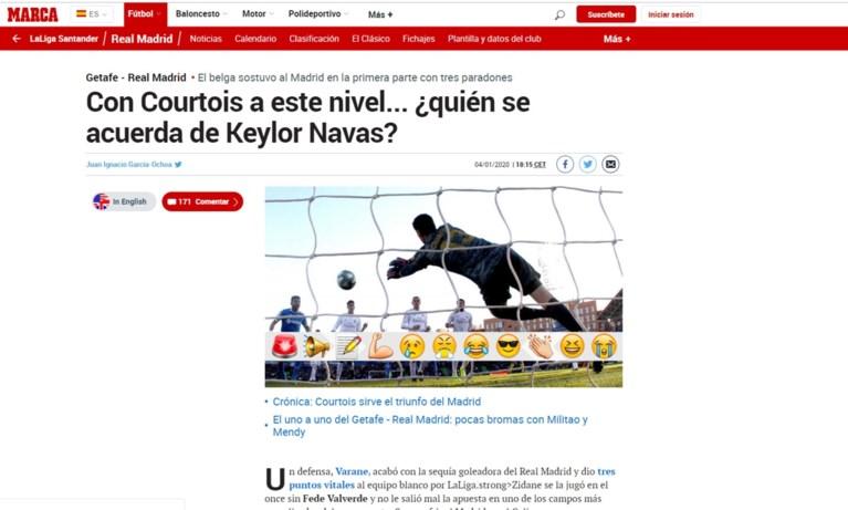 """Courtois met lof overladen na glansprestatie bij Real: """"Wie herinnert zich Keylor Navas?"""""""