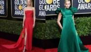 Veel rood, zwart-wit en pofmouwen op de rode loper van de Golden Globes