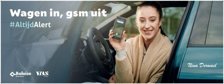 Nina Derwael moet jongeren ontmoedigen gsm te gebruiken achter het stuur