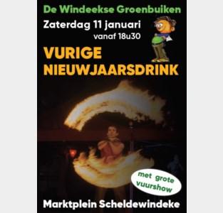 Vurige nieuwjaarsdrink vervangt traditionele kerstboomverbranding in Scheldewindeke