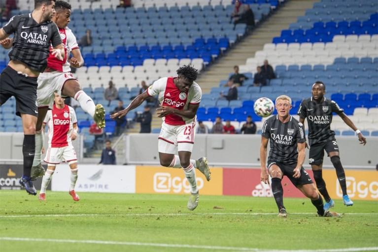 Eupen verliest maar beperkt de schade tegen Ajax in Qatar