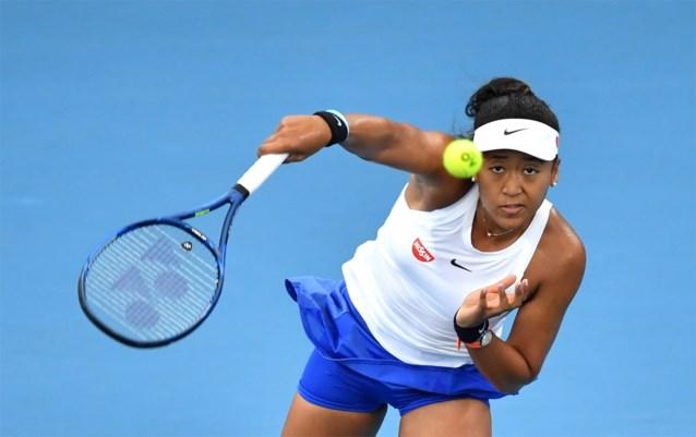 Tennistopper Naomi Osaka is het jaar goed begonnen en dankt haar Belgische coach Wim 'Fissettey'