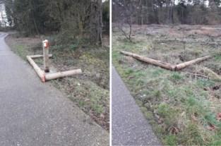 Klacht voor vernielde fietspoorten