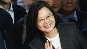 Verkiezingen Taiwan: zittend staatshoofd Tsai Ing-wen kondigt overwinning aan