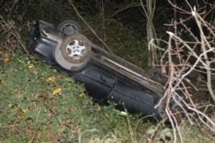 Wagen gaat van snelweg af, Fransman gewond