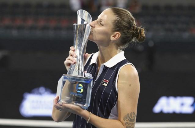 WTA Brisbane - Karolina Pliskova is voor derde keer de beste