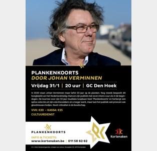 Klassebak Johan Verminnen brengt 'Plankenkoorts' in Den Hoek