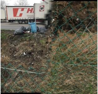 Sluikstorters blijven afval dumpen op parking E19