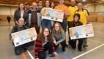 FOTO. Drie cheques voor goede doelen
