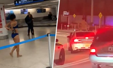 Vrouw stript in luchthaven en klimt nadien op toegesnelde politiewagen