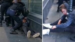 Politieagent slaat demonstrant tot bloedens toe...en blijft maar doorgaan