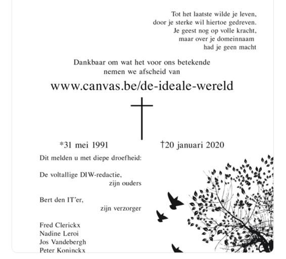 Merkwaardig: Canvas heeft geen website meer