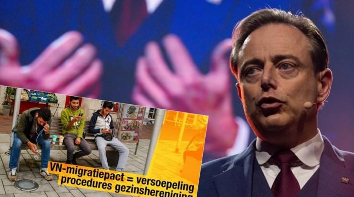 """Campagnebeelden tegen Migratiepact blijven N-VA achtervolgen: """"reële foto's"""" blijken dan toch gefotoshopt"""