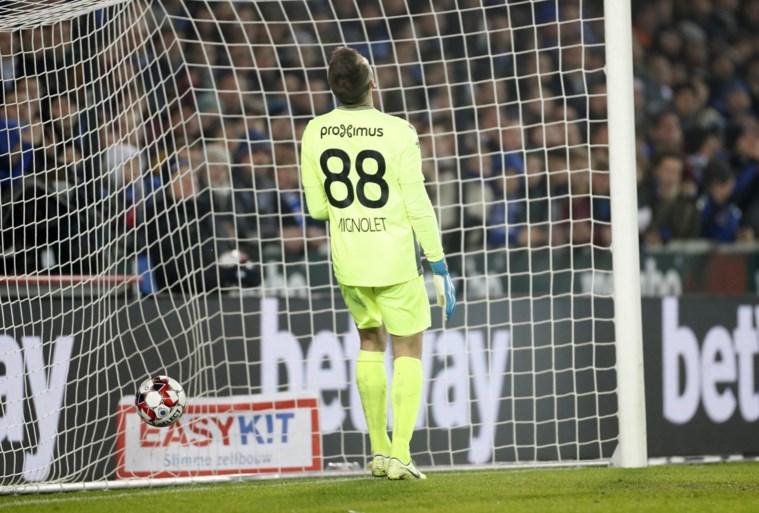 """Ongeziene blunder van Simon Mignolet bij Club Brugge: """"Ik moet dit accepteren en laten liggen"""""""