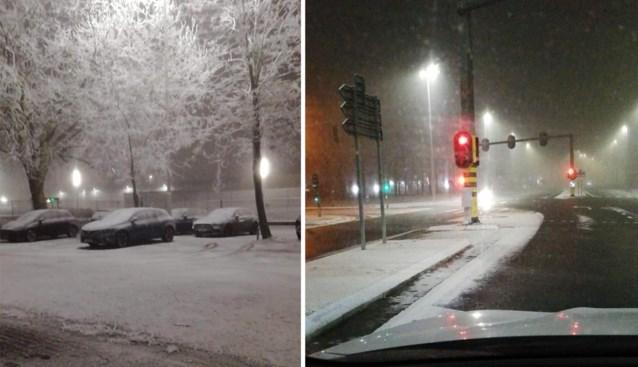 Eerste sneeuw gevallen in Vlaanderen