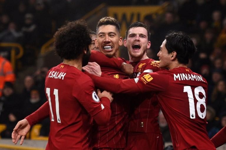 Liverpool-trein bibbert tegen Wolverhampton, maar dendert wel door