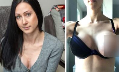 Vrouw is apetrots op borstvergroting, tot plots één borst begint op te zwellen