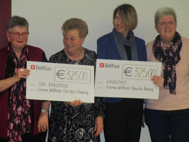 Femma Christus Koning schenkt 650 euro aan twee goede doelen