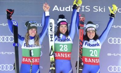 WB alpijnse ski: Italiaanse vrouwen domineren afdaling in het Bulgaarse Bansko, Curtoni wint