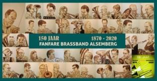 Brassband Alsemberg presenteert jubileumspandoek en jubileumbier