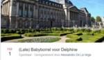 Late babyborrel voor Delphine Boël op Facebook gaat viraal