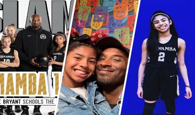 De niet te stoppen 'moves' van haar vader Kobe had ze al, maar Gianna 'Gigi' Bryant (13) zal haar droom nooit kunnen waarmaken