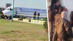 Passagiersvliegtuig komt na mislukte landing op midden van snelweg terecht