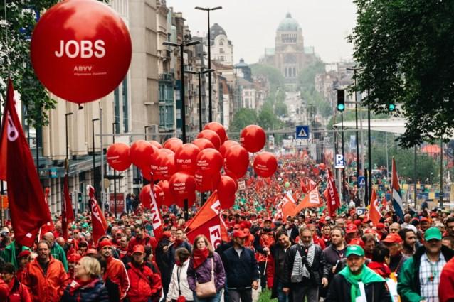 Vakbondsbetoging trekt dinsdag door Brussel: hier zal u hinder ondervinden