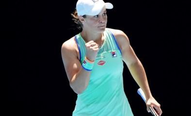 Nummer één van de wereld Barty vlot door naar halve finale Australian Open