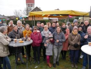 Zevende nieuwjaarsreceptie in het Torenpark in Petegem