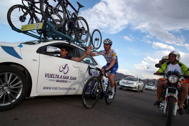 Alaphilippe geeft op met maagproblemen in Ronde van San Juan