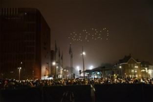 Drones-show in Brugge ging volledig de mist in, maar is wel een hit op internet