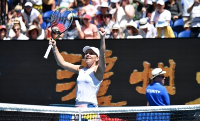 Simona Halep makkelijk naar halve finales Australian Open waar ze Muguruza treft