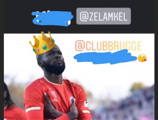 Eerst wankers, nadien een kusje: Lamkel Zé schoffeert Club Brugge-fans, maar biedt meteen excuses aan