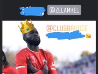 Eerst <I>wankers</I>, nadien een kusje: Lamkel Zé schoffeert Club Brugge-fans, maar biedt meteen excuses aan