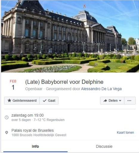 """Late babyborrel voor Delphine Boël (51) """"gaat echt door, hoor"""""""