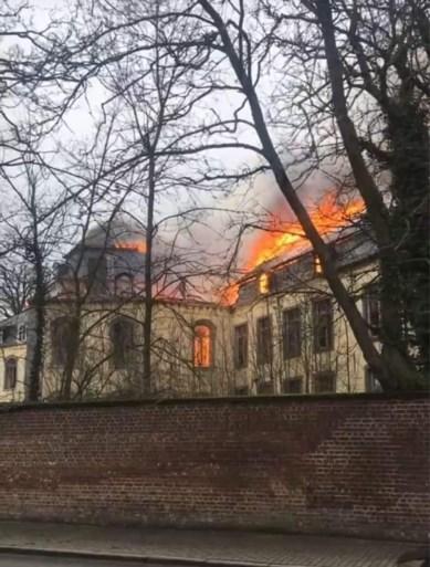 Zware brand in kasteel van Viane