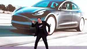 Beurswaarde Tesla in maand tijd verdubbeld