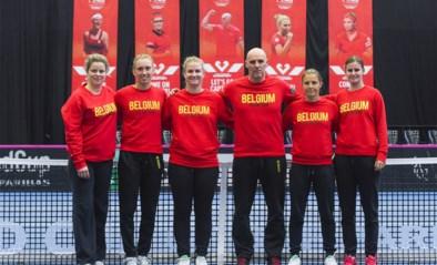 IN BEELD. Kim Clijsters opnieuw in Belgische outfit op training van Fed Cup-team