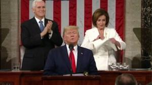 Zo opmerkelijk was de State of Union van Trump: gescheurde speech en verrassingsbezoeken