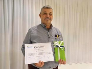 Freddy gehuldigd omdat hij al 25 jaar trouw gemeenteraad volgt