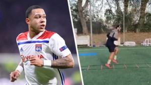 Memphis Depay traint weer op veld bij Olympique Lyon na gescheurde kruisband: haalt hij het EK?