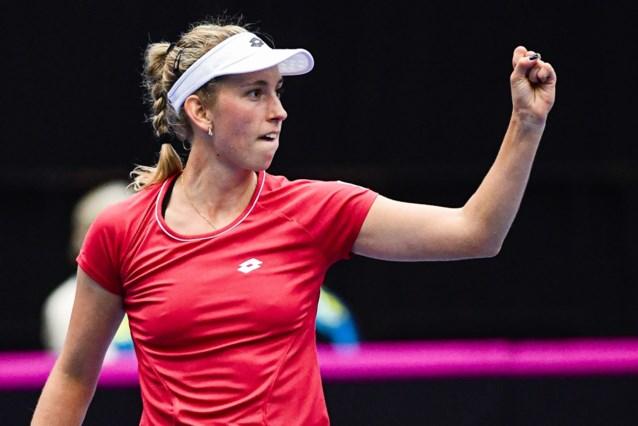 Elise Mertens brengt België op 2-1 tegen Kazachstan, winst in Fed Cup wenkt
