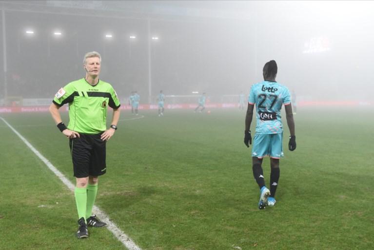 Hevige mist is spelbreker tijdens Charleroi - KV Mechelen (1-0), wedstrijd na 37 minuten definitief gestaakt