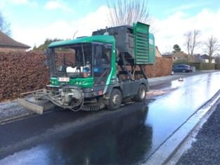 Borstelwagen veroorzaakt oliespoor in Bilzen