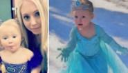 Peutertje (2) had nog nooit sneeuw gezien, maar ze had van 'Frozen' precies geleerd wat ze ermee moest doen
